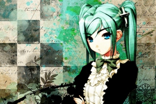 Free Anime Girl Green Hair Picture for Android, iPhone and iPad