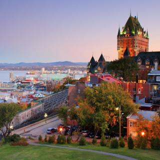 Quebec City and Port - Obrázkek zdarma pro 320x320