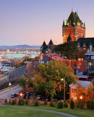 Quebec City and Port - Obrázkek zdarma pro 132x176