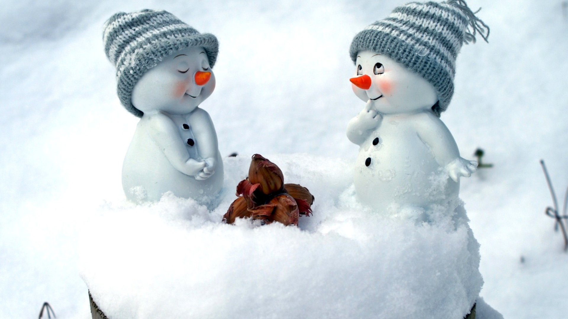 cute snowman christmas decoration figurine wallpaper for