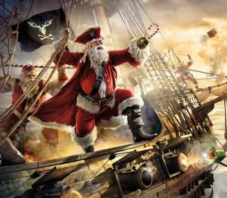 Pirate Santa - Obrázkek zdarma pro 1024x1024