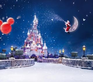 Santa On Moon - Obrázkek zdarma pro 1024x1024