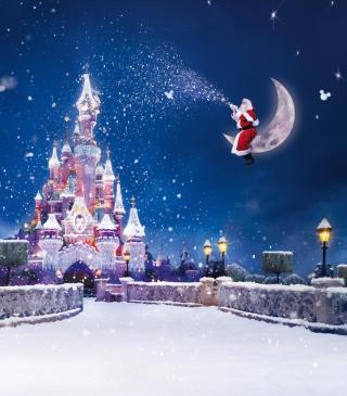 Santa On Moon - Obrázkek zdarma pro Nokia X1-00