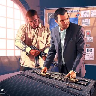 Grand Theft Auto V Mike Franklin - Obrázkek zdarma pro 1024x1024