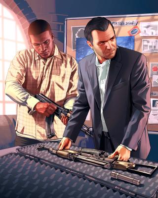 Grand Theft Auto V Mike Franklin - Obrázkek zdarma pro Nokia Asha 309