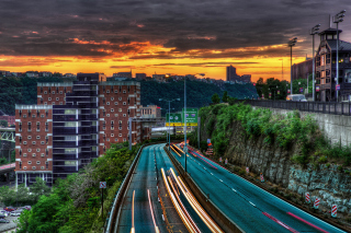 Streets in Pittsburgh Pennsylvania Picture for Android, iPhone and iPad