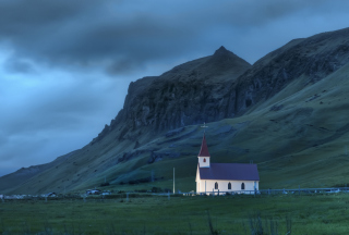 Night In Iceland Picture for Android, iPhone and iPad