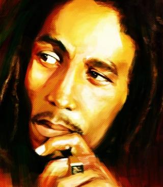Bob Marley Painting - Obrázkek zdarma pro Nokia C1-00