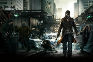 Watch Dogs Background for Android, iPhone and iPad