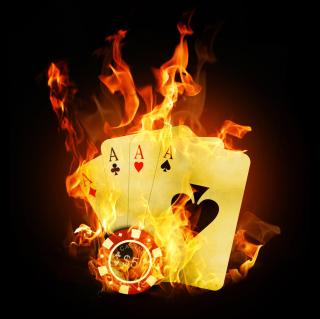 Fire Cards In Casino - Obrázkek zdarma pro 208x208