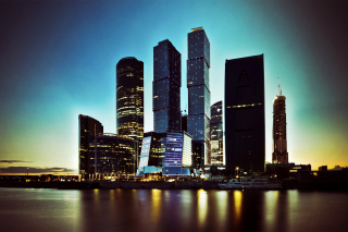 Moscow City Skyscrapers Wallpaper for Android, iPhone and iPad