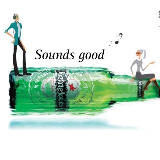 Heineken, Sounds good - Obrázkek zdarma pro iPad Air