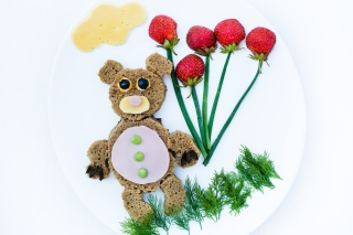 Happy Breakfast Bear Picture for Android, iPhone and iPad