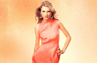 Taylor Swift In Pink Dress Wallpaper for Android, iPhone and iPad