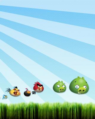 Angry Birds Bad Pigs - Obrázkek zdarma pro Nokia 300 Asha