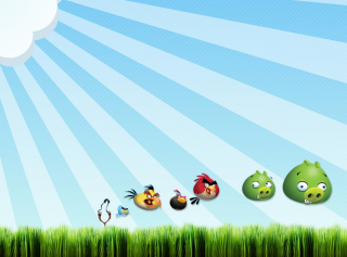 Angry Birds Bad Pigs Background for Android, iPhone and iPad