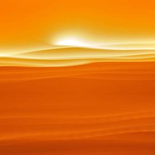 Orange Sky and Desert - Obrázkek zdarma pro 128x128