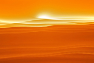 Orange Sky and Desert Wallpaper for Android, iPhone and iPad