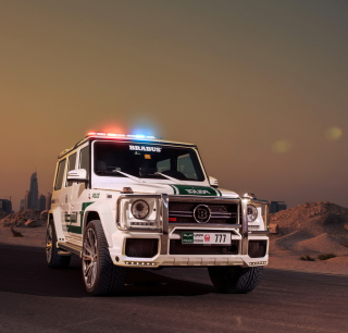 Mercedes Benz G Brabus Police - Obrázkek zdarma pro 1024x1024