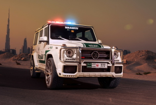 Mercedes Benz G Brabus Police Wallpaper for Android, iPhone and iPad