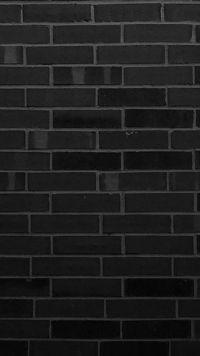 Black Brick Wall Wallpaper for iPhone 5