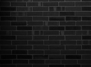 Black Brick Wall Picture for Android, iPhone and iPad