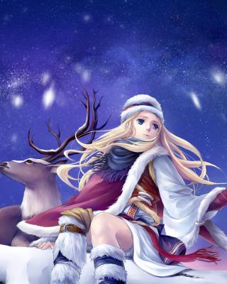 Anime Girl with Deer - Obrázkek zdarma pro Nokia Lumia 920