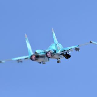 Military Sukhoi Su 34 - Obrázkek zdarma pro 1024x1024