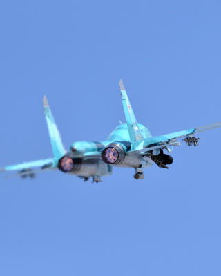 Military Sukhoi Su 34 - Obrázkek zdarma pro 360x640