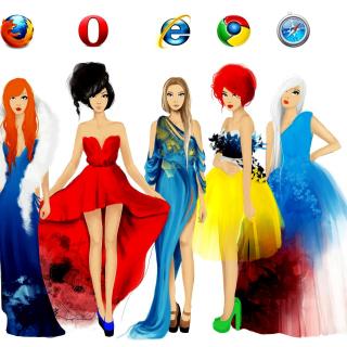 Browsers Girls - Obrázkek zdarma pro 1024x1024