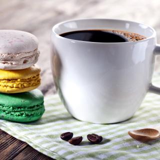 Coffee and macaroon - Obrázkek zdarma pro iPad Air