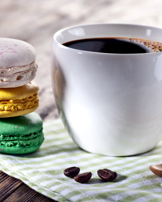 Coffee and macaroon - Obrázkek zdarma pro iPhone 6 Plus
