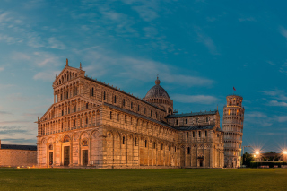 Pisa Cathedral and Leaning Tower Background for Android, iPhone and iPad