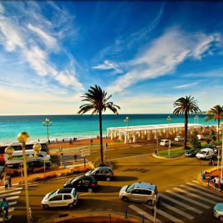 Nice, French Riviera Beach - Obrázkek zdarma pro 320x320