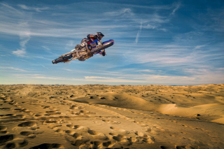 Motocross in Desert Picture for Android, iPhone and iPad