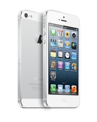 New White iPhone 5 - Obrázkek zdarma pro 640x960