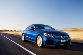 Mercedes Benz C Class Coupe W205 Background for Android, iPhone and iPad