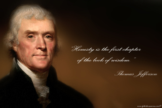 Thomas Jefferson Background for Android, iPhone and iPad