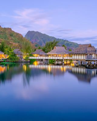 French Polynesia Beach Resort - Obrázkek zdarma pro Nokia Asha 306