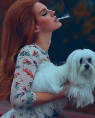 Lana Del Rey National Anthem - Obrázkek zdarma pro Nokia Asha 310