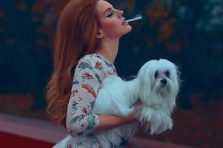 Lana Del Rey National Anthem - Obrázkek zdarma pro HTC One