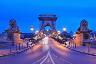 Budapest - Chain Bridge Background for Android, iPhone and iPad
