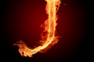 Fire Letter J Background for Android, iPhone and iPad