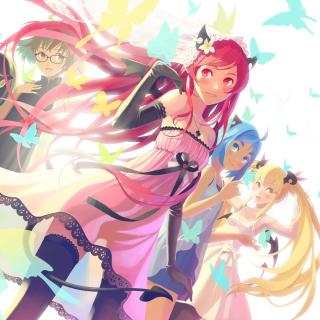 Anime Charm Girls - Obrázkek zdarma pro iPad mini 2