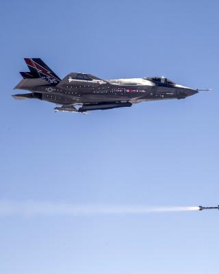 Lockheed Martin F 35 Lightning II - Obrázkek zdarma pro Nokia Asha 503