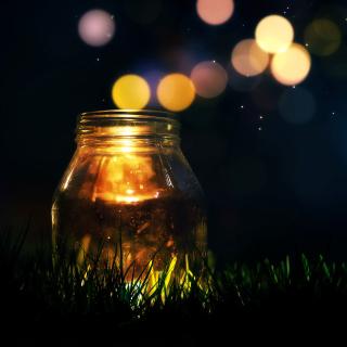 Glass jar in night - Obrázkek zdarma pro 1024x1024