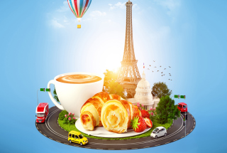 France Breakfast Background for Android, iPhone and iPad