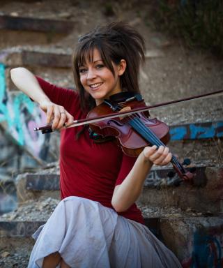 Lindsey Stirling Violin - Obrázkek zdarma pro Nokia C3-01 Gold Edition