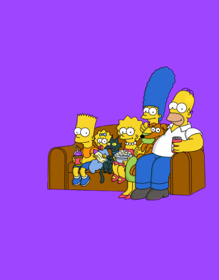 The Simpsons Family - Obrázkek zdarma pro 176x220