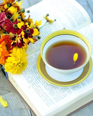 Tea and Book - Obrázkek zdarma pro Nokia Asha 501